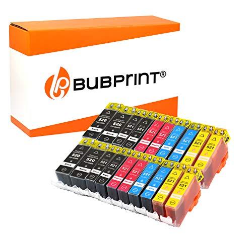 Bubprint 20 Druckerpatronen kompatibel für Canon PGI-520 CLI-521 für Pixma IP3600 IP4600 IP4700 MP540 MP550 MP560 MP620 MP630 MP640 MP980 MP990 MX860