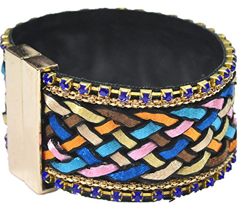 SaySure - Vintage Style Multilayer Magnetic Buckle Knitting Bracelets