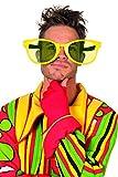 Jannes 20019 Brille Clown XXL Spaßbrille Groß Gelb