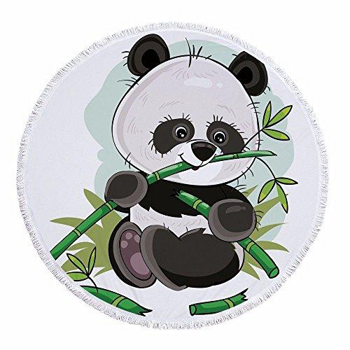 Singh Mandala Runde Tapisserie Strandtuch Tischdecke Badetuch Yogamatte Sonnenschutz Schal Picknickdecke Schal Wandbehang 59 Zoll Panda