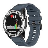 Garmin Descent Mk1 Strap, Malloom 26mm Banda de Silicona Suave Correa Deportiva de Reemplazo para Garmin Descent Mk1 GPS Watch (Marina)