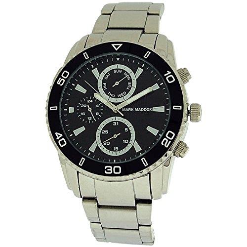 Mark Maddox Gents Multifunction Black Dial & Bracelet Strap Watch HM6005-57