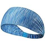 Skudgear Yoga Sport Athletic Headband Sweatband For Running Sports Travel Fitness Elastic Wicking Non Slip Style Band and Basketball Headbands Headscarf fits