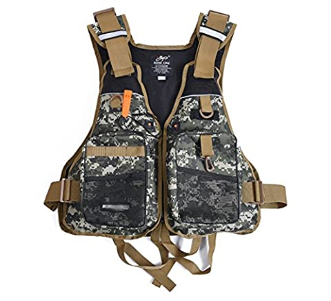 ISHOWStore Fishing Life Vest Backpack Chest Vest Pack Jacket