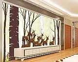 HONGYUANZHANG Schönes Elch Tier Tapete Des Foto-3D Künstlerische Landschafts-Fernsehhintergrund-Tapete,104Inch (H) X 136Inch (W)