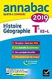Annales Annabac 2019 Histoire-Géographie Tle L, ES - Sujets et corrigés du bac Terminale L, ES