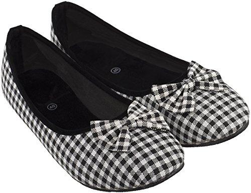 Cute GINGHAM Pepita Scot 50s Vintage Canvas Schuhe BALLERINAS Flats Rockabilly -