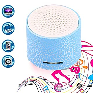 Befied SmartLife - Mini Super Portable Bluetooth Speaker Music Box   LED Speakers Wireless bluetooth speaker with TF Port  Support APP (Blue)