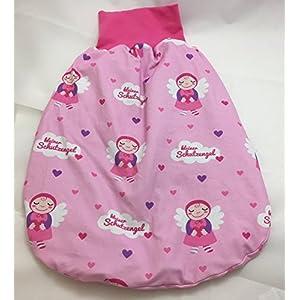 Pucksack Strampelsack kleiner Schutzengel rosa
