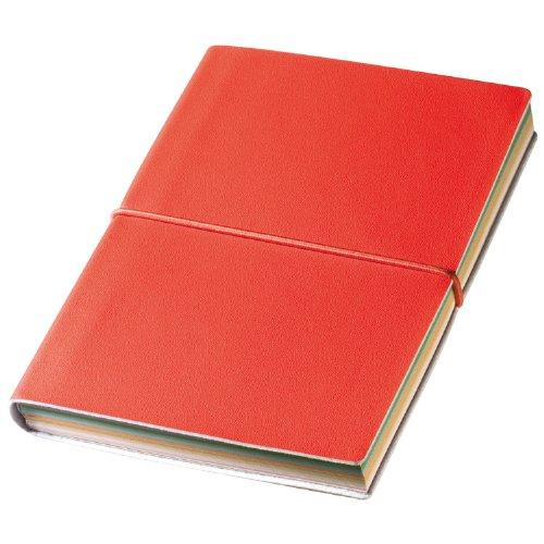 Libretto BLOCCO Note Notebook Copertina Flessibile Pagine Colorate Chiusura CON ELASTICO -
