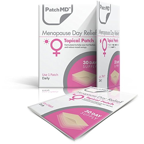 PatchMD Menopause Day Relief™ - 30 Daily Topical Patches. 100% Natural & Vegan. Allergy & Filler Free. High Absorption More bioavailable. Suitable for Sensitive stomachs & bariatric.