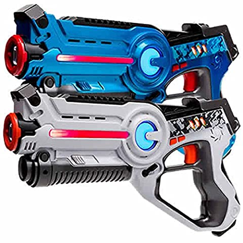 2 Light Battle Active pistolets infrarouges bleu et blanc - LBAP10234