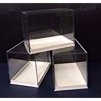 20 LARGE PERSPEX DISPLAY SPECIMEN BOX IDEAL FOR FOSSILS,METEORITES,DIE CASTS,COINS ETC
