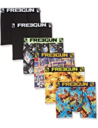 Freegun X6, Boxer Homme, (lot de 6)
