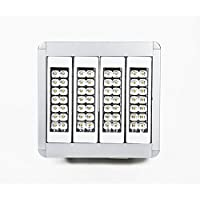 Faro LED grande altezza di sospensione– 160 W – 376 mm ? 395 mm X 95 mm – angolo 60° - 16000 lm - IP65 – 4000K – bianca neutra luce diurna – in dotazione supporti regolabili e cavi (3 ?) inclusi.