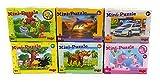 Haba Mini Puzzle 6-Set Mitgebsel Kindergeburtstag Mitgebsel Drache Pferd Einhorn Polizei Delfin Obstgarten