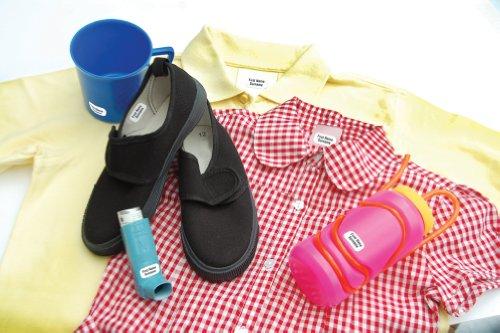 90 Personalisierte Wäscheetiketten, STIKINS® Label Planet®, Schulkleidung/Kleidung/Kleidungsetiketten, Namensstreifen für Kinder, neue Namensetiketten zum Aufkleben, KEIN AUFBÜGELN/EINNÄHEN/BESCHRIFTEN, selbstklebendes Kunststoffetikett für Schulkleidung, senden Sie uns den zu druckenden Namen - 2