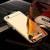 D-kandy Luxury Metal Bumper + Acrylic Mirror Back Cover Case For Xiaomi Redmi 4A -GOLD