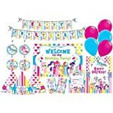 PrettyurParty My Little Pony Party Decorations, Standard, Blue, and Pink -Set of 90 Piece