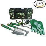 Pei Gartenwerkzeug 7-Teiligem Werkzeug Set Gratis Tragetasche zur Aufbewahrung der Gartengeräte