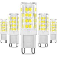 KINDEEP G9 LED - 5W/400LM, Ricambio por lámpara alogena da 50W (Blanco Frío)