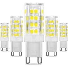 KINDEEP G9 LED - 5W / 400LM, Ricambio por lámpara alogena da 40W (Blanco Frío)