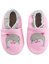 koshine Chausson Cuir Souple Bébé Chaussures Enfant Dessin Animé Fille Garçon 0-24 Mois