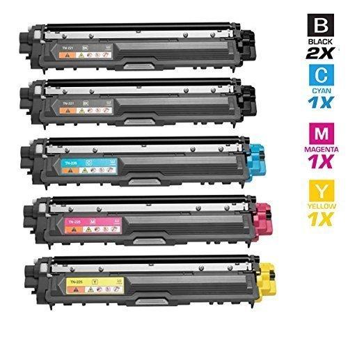 5 Schneider Printware Toner | 100% höhere Druckleistung | je 2.800 Seiten Cyan Magenta Yellow , Schwarz 3.200 Seiten als Ersatz für TN242bk TN242c TN242m TN242y für Brother HL-3142cw HL-3152cdw HL-3172cdw MFC-9332cdw MFC-9142cdn MFC-9342cdw DCP-9022cdw