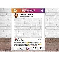 Photocall Instagram Personalizado Eventos o Celebraciones puntuales | Medidas 100x80cm | Ventanas Troqueladas | Photocall Divertido | Atrezzos