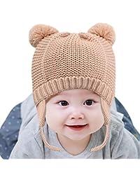 DORRISO Cappello Bambino Caldo Autunno Invernale Carina Piccolo Cappelli  Berretto Bambini Infantili del Cappello per 1 bde3ad50d23b