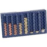 PEARL PE-2440 Euro-Münzbrett - Münzzähler mit 8 Schächten für alle Euro-Münzwerte