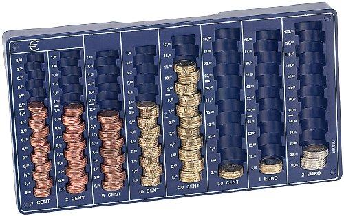 PEARL Zählbrett: Euro-Münzbrett für alle Euro- und Cent-Münzen (Münzzählbrett) -