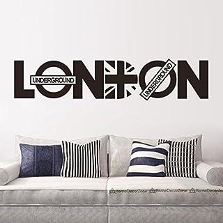 asenart London Buchstabe PVC Abnehmbare Zimmer Vinyl Aufkleber DIY Wand Aufkleber Home Decor Kunst Größe 20,3x 94cm