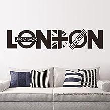 "asenart Londres Carta PVC extraíble Habitación DIY adhesivo para pared vinilo adhesivo decoración del hogar arte tamaño 8""* 37"""