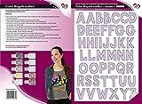 Color Bügeltransfers, DIN A4, ABC, Alphabet | Buchstaben auf Transfer-Folien für Textilien wie T-Shirts & Taschen | Transfer-Bilder schnell & einfach aufbügeln | DIY Textildesign (flieder)