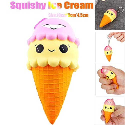 Elevin(TM) _ Toys & Joker Squishes Toys Kawaii Squishy Slow Rising Jumbo Giant Scented Cartoon Ice Cream Stress Reliever Toy Large A