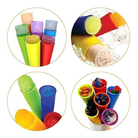 iNeibo Eis am Stiel- eis pop form aus 100% Lebensmittelsilikon- BPA frei, FDA-zugelassenen, hochwertiges eis am stiel form um eis selber machen- 100% ZufriedenheitsGarantie (6, Bunt)