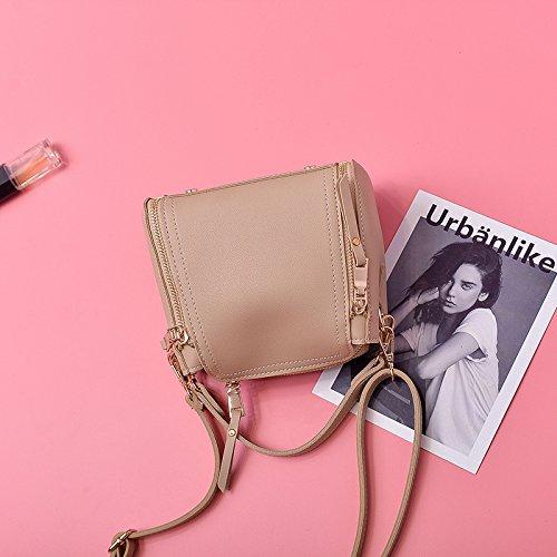 Pacchetto LiZhen donna nuova edizione coreana telefono polizze di carico della spalla borse donna elegante e versatile messenger ulzzang Mini Pacchetto, rosa La scheda