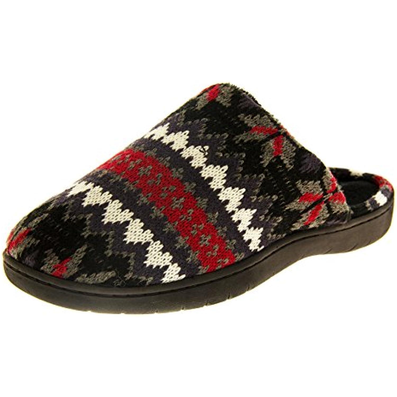 Chaussons pour homme Dunlop New Plat Nordic Plat New en tricot avec doublure en polaire confortable à enfiler Mules - B00OHC40Z8 - 1e79cc