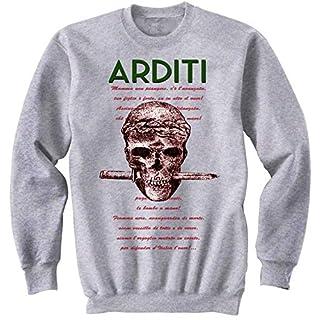 teesquare1st Men's Arditi Italiani Grey Sweatshirt Size XXLarge