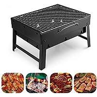 Barbacoa Portátil de Acero Inoxidable,Mini Barbecue con Rejilla Portátil Plegable Barbacoa de Exteriores (