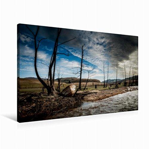 Burgund Leinwand (Premium Textil-Leinwand 90 cm x 60 cm quer Das Wrack | Wandbild, Bild auf Keilrahmen, Fertigbild auf echter Leinwand, Leinwanddruck (CALVENDO Natur))