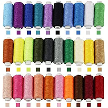 40 Spulen Nähgarn Nähmaschinengarn für alle Nähmaschinen Garn Fasergarn 595-40