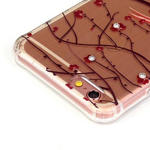 iPhone 6 Case, iPhone 6S Caso, Ekakashop Bling di modo di disegno ultra sottile laser di TPU Gel silicone flessibile(con la spina della polvere) cover protettiva trasparente cover case per Apple iphon Leiothrix