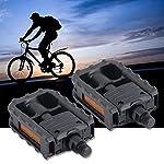 1-Paio-di-Pedali-Pieghevoli-per-Bicicletta-Universale-in-Plastica-per-Mountain-Bike-Neri-Antiscivolo-per-Tutti-i-Tipi-di-Bici-con-Bordi-Dentati