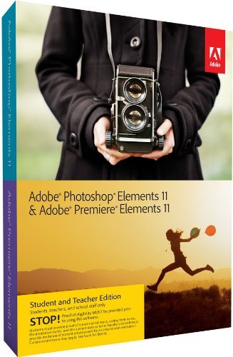 Adobe Photoshop Elements 11 & Premiere Elements 11 Student and Teacher* WIN & MAC (Premiere 11 Adobe)
