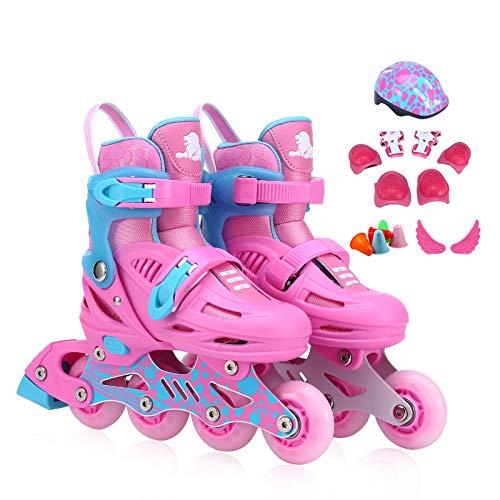 Schlittschuhe Rollschuhe Rollschuhe Anfänger L Code 32-35 Pink -