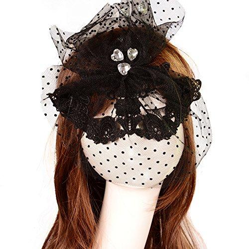 CAOLATOR Spitze Augenmaske Geheimnisvoll Schwarz Party Spitzenmaske Halloween Tanz Spitzenmaske Karneval Partei (Tanz Frei Kostüm Muster)