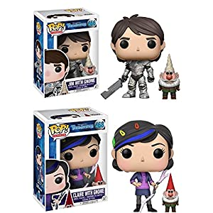 Funko POP Trollhunters Jim with Gnome Claire w Gnome Stylized Vinyl Figure Bundle Set NEW