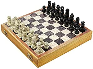 Shalinindia Indian Handmade Stone And Wood Chess Set Unique Gifts For Kids And Adults